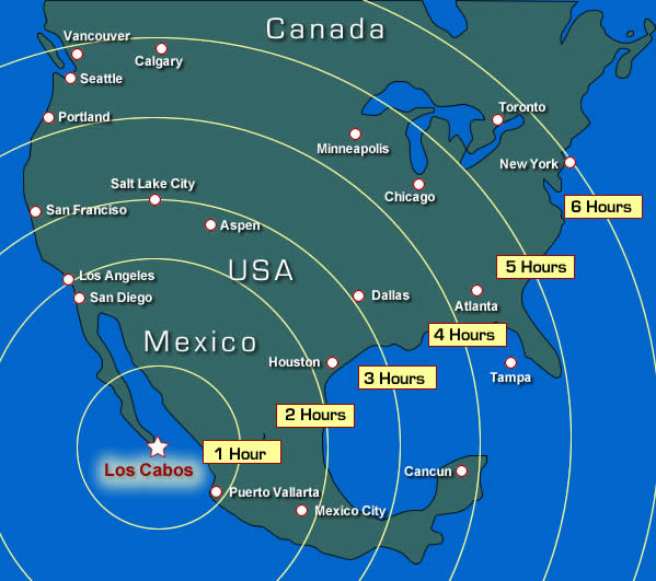 Los Cabos travel map